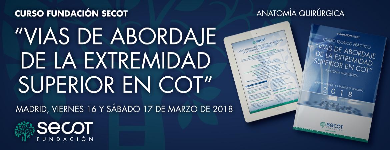 CURSO TEÓRICO-PRÁCTICO 'VÍAS DE ABORDAJE DE LA EXTREMIDAD SUPERIOR EN COT.  16-17  marzo 2018